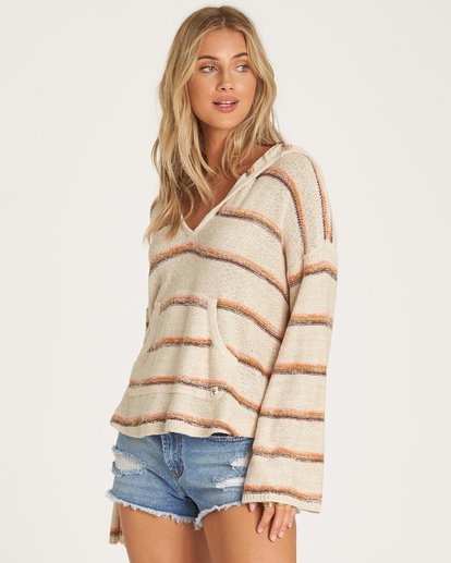 1 Baja Beach Sweater White JV101BBA Billabong