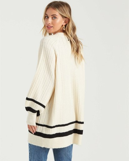 1 Between The Lines Sweater White JV103BBE Billabong