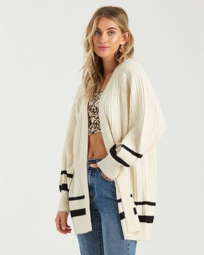 2 Between The Lines Sweater White JV103BBE Billabong