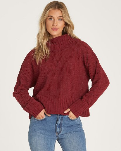 0 Cherry Moon Sweater Red JV11WBCH Billabong
