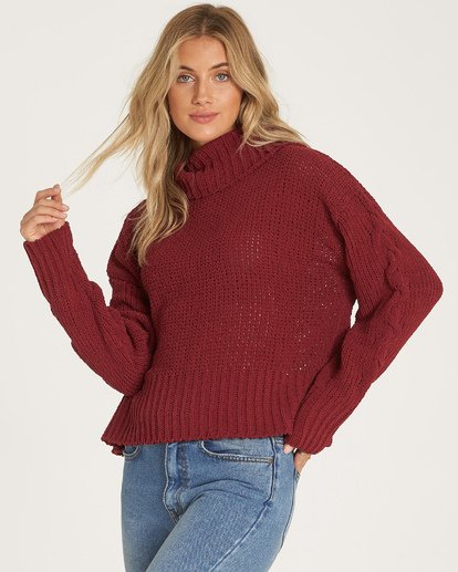 1 Cherry Moon Sweater Red JV11WBCH Billabong