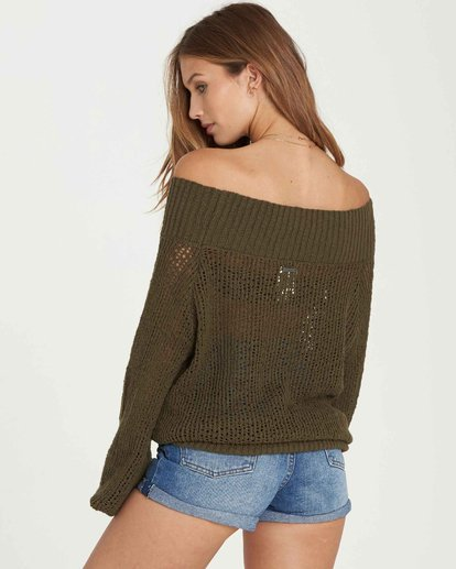 1 Rolled Up Off-The-Shoulder Sweater  JV12QBRO Billabong