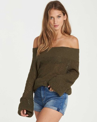 2 Rolled Up Off-The-Shoulder Sweater  JV12QBRO Billabong