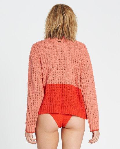3 Block Party Sweater Red JV12SBBL Billabong