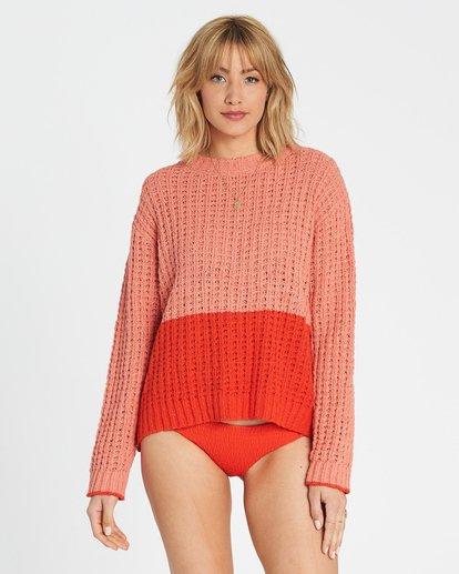 1 Block Party Sweater Red JV12SBBL Billabong