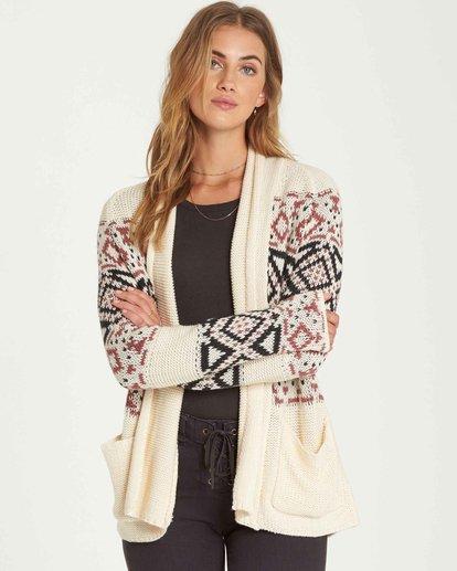 0 In Stitches Cardigan Sweater  JV16QBIN Billabong