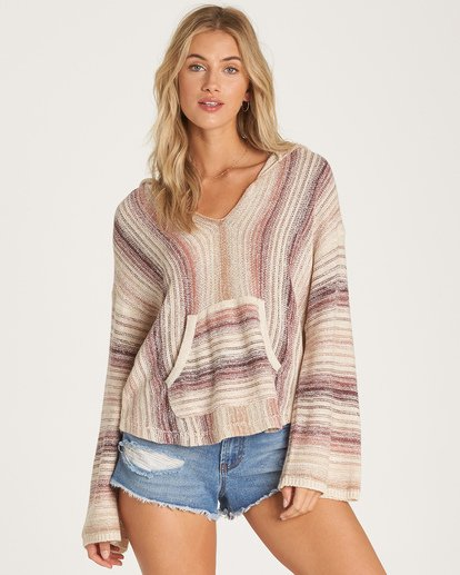 0 Baja Beach Sweater Purple JV18WBBA Billabong