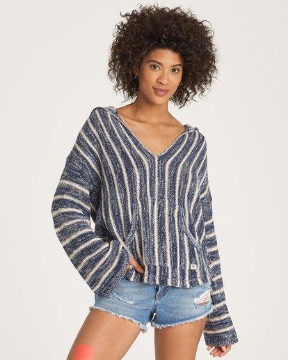 0 Baja Beach Sweater Blue JV18WBBA Billabong