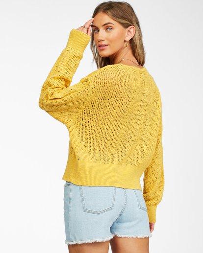 2 Feel The Breeze Sweater Yellow JV193BFE Billabong