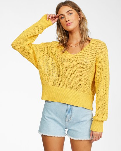 0 Feel The Breeze Sweater Yellow JV193BFE Billabong