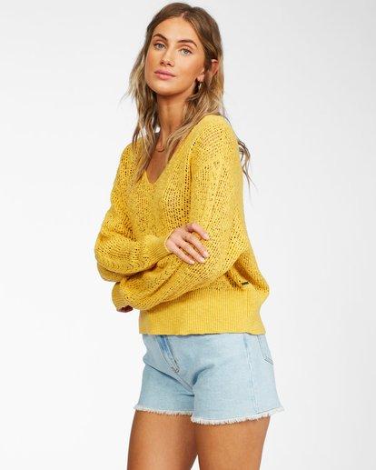 1 Feel The Breeze Sweater Yellow JV193BFE Billabong