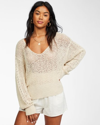 0 Feel The Breeze Sweater White JV193BFE Billabong