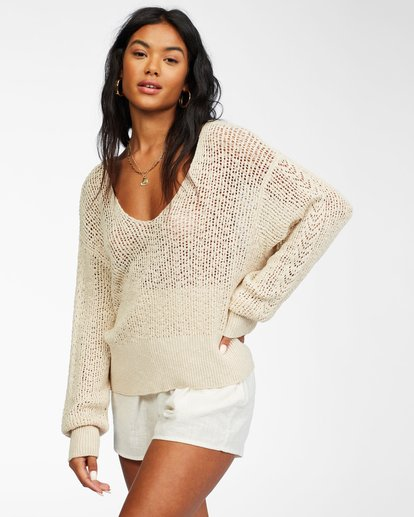 1 Feel The Breeze Sweater White JV193BFE Billabong