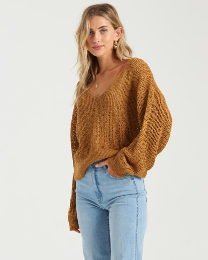 1 Feel The Breeze Sweater Green JV193BFE Billabong