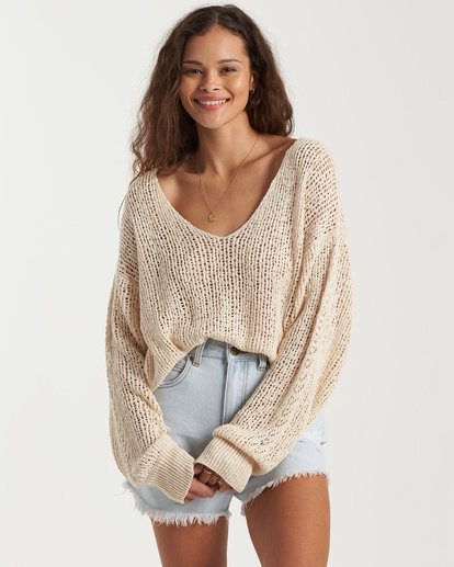 4 Feel The Breeze Sweater White JV193BFE Billabong