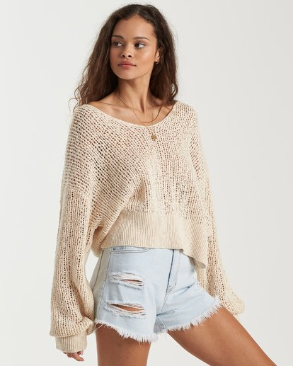 5 Feel The Breeze Sweater White JV193BFE Billabong