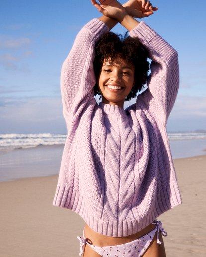 0 Color Pop Cable Sweater Purple JV30VBCO Billabong