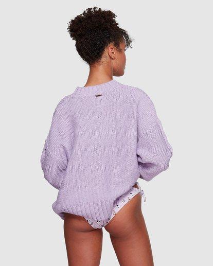 4 Color Pop Cable Sweater Purple JV30VBCO Billabong