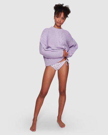 5 Color Pop Cable Sweater Purple JV30VBCO Billabong