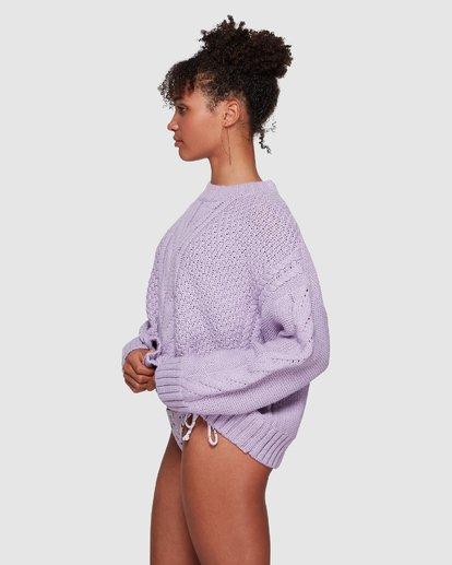 3 Color Pop Cable Sweater Purple JV30VBCO Billabong