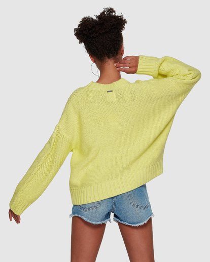 4 Color Pop Cable Sweater Yellow JV30VBCO Billabong