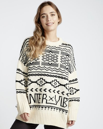 1 Fall Fever Sweater White JV32VBFA Billabong