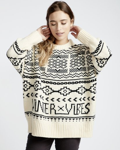 3 Fall Fever Sweater White JV32VBFA Billabong
