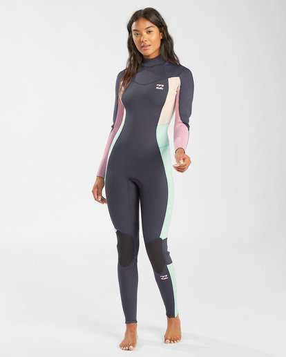 0 3/2 Synergy Back Zip Wetsuit Blue JWFU3BB3 Billabong