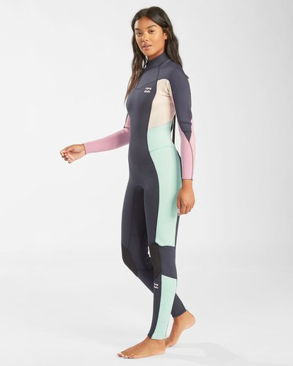 1 3/2 Synergy Back Zip Wetsuit Blue JWFU3BB3 Billabong