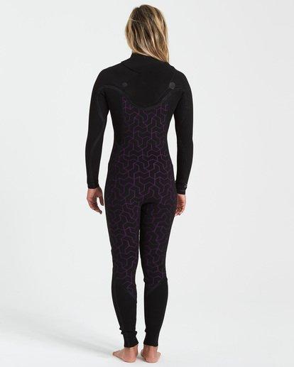 4 3/2 Furnace Comp Chest Zip Wetsuit Purple JWFU3BC3 Billabong