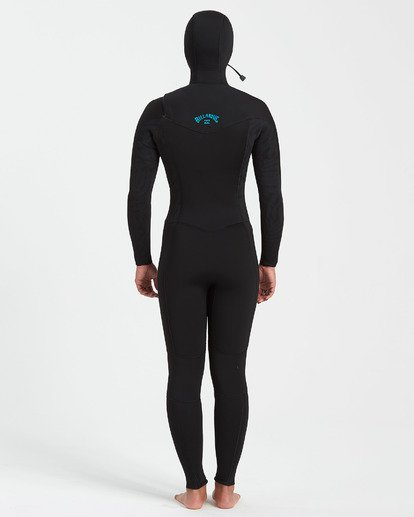 2 5/4 Synergy Chest Zip Hooded Fullsuit Black JWFU3BH5 Billabong