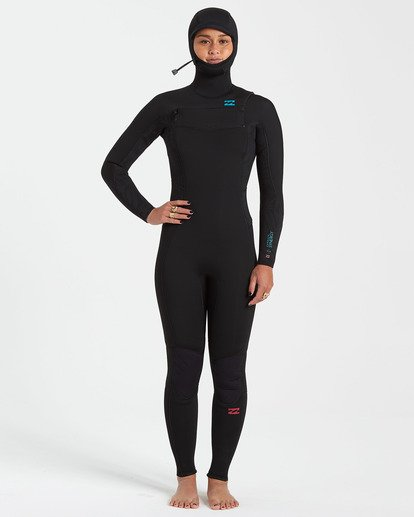 0 5/4 Synergy Chest Zip Hooded Fullsuit Black JWFU3BH5 Billabong