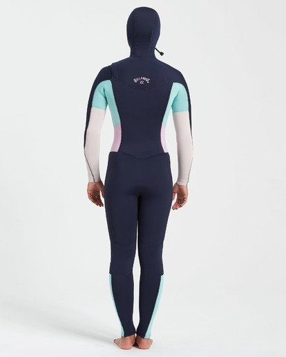 2 5/4 Synergy Chest Zip Hooded Wetsuit Blue JWFU3BH5 Billabong