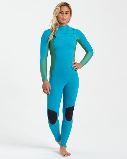 0 3/2 Synergy Chest Zip Wetsuit Orange JWFU3BY3 Billabong