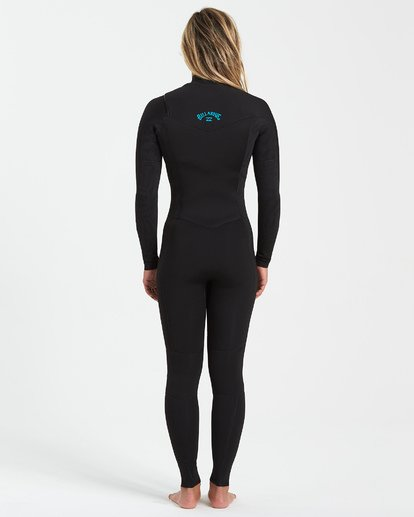 1 4/3 Synergy Chest Zip Wetsuit Black JWFU3BY4 Billabong