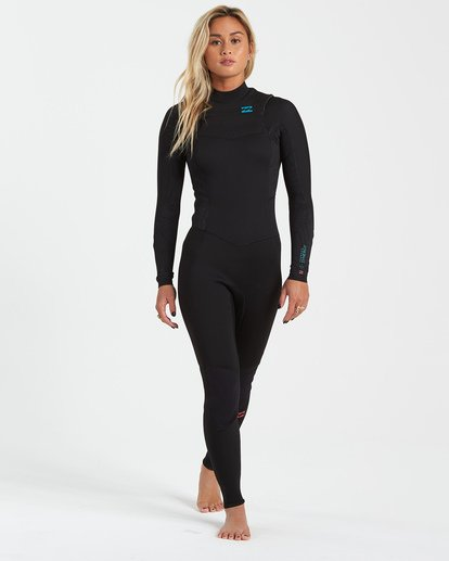 0 4/3 Synergy Chest Zip Wetsuit Black JWFU3BY4 Billabong