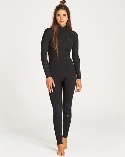 0 3/2 Furnace Synergy Back Zip Fullsuit Black JWFUQBB3 Billabong