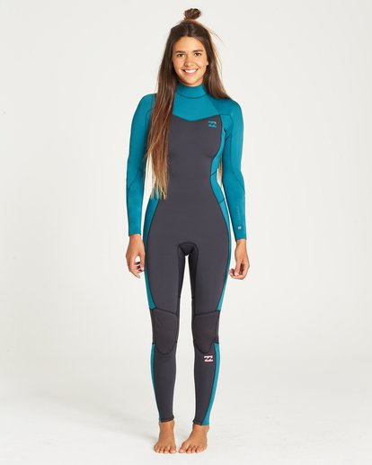 0 3/2 Furnace Synergy Back Zip Fullsuit Blue JWFUQBB3 Billabong