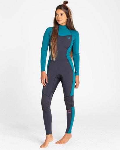 1 3/2 Furnace Synergy Back Zip Fullsuit Blue JWFUQBB3 Billabong