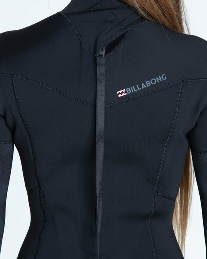 3 4/3 Furnace Synergy Back Zip Fullsuit Black JWFUQBB4 Billabong