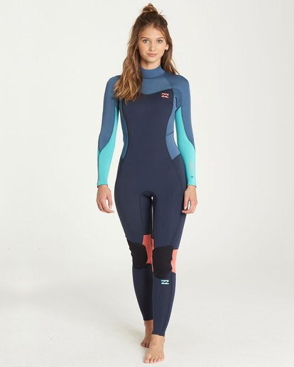 0 4/3 Furnace Synergy Back Zip Fullsuit Grey JWFUQBB4 Billabong