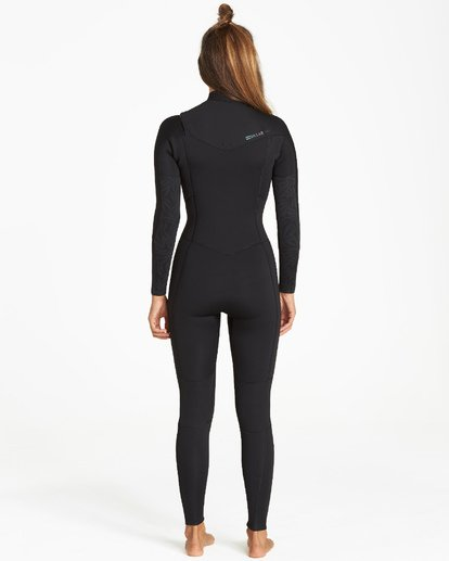 1 3/2 Synergy Chest Zip Fullsuit Black JWFUVBY3 Billabong