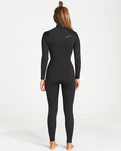 1 4/3 Synergy Chest Zip Fullsuit Black JWFUVBY4 Billabong