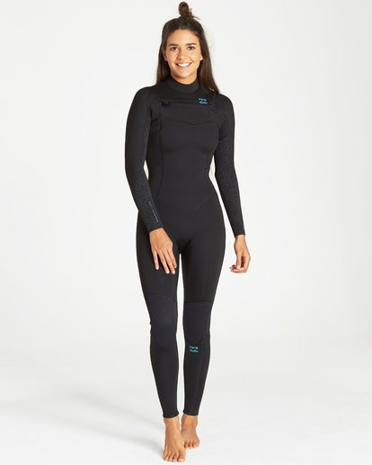 0 4/3 Synergy Chest Zip Fullsuit Black JWFUVBY4 Billabong