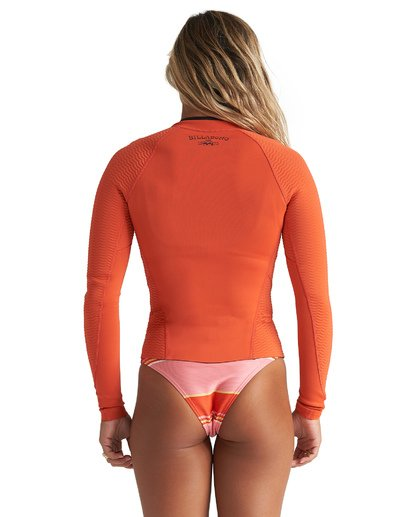 2 1mm Peeky Wetsuit Jacket Orange JWSH1BSL Billabong