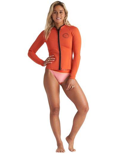 1 1mm Peeky Wetsuit Jacket Orange JWSH1BSL Billabong