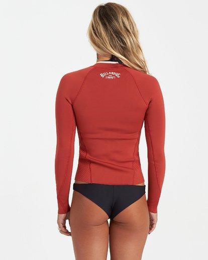 3 1mm Peeky Wetsuit Jacket Red JWSH3BSL Billabong