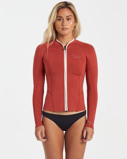 2 1mm Peeky Wetsuit Jacket Red JWSH3BSL Billabong