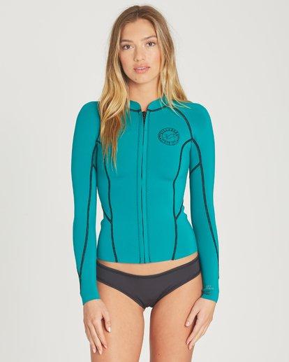 0 Peeky Wetsuit Jacket Green JWSHTBSL Billabong