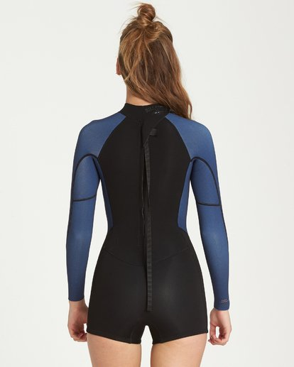 2 2mm Spring Fever Back Zip Springsuit Blue JWSPQBSF Billabong